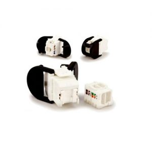 Corning CAT6MOD3PS - Category 6 UTP Jack, with three cable entries VOL-OCK6-UHV