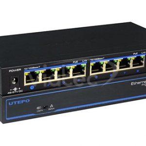 UTP3-SW08-TP120-A1 - 8 x 10/100 POE Ports Ethernet Switch+(Two Gigabit Uplinks ports) 120Watts